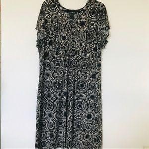 Lane Bryant Circle Print Short Sleeve Career Dress